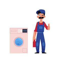 plumber man thumbs up vector image