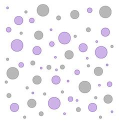 Polka dot pink and grey pattern vector