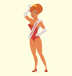 queen of beauty miss universe vector image