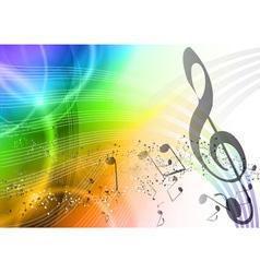 rainbow music vector image vector image