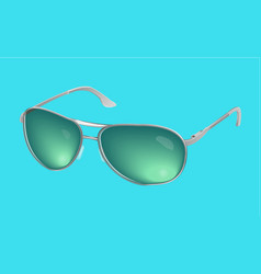 Realistic eye glasses green sunglasses iso vector