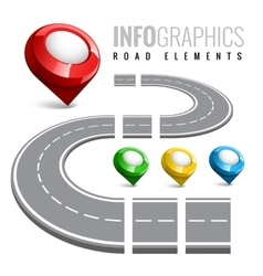 Road map for business infographic vector image