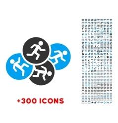 Running Men Icon vector