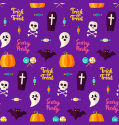 scary party halloween seamless background vector image