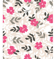 Seamless background with wild roses vintage style vector