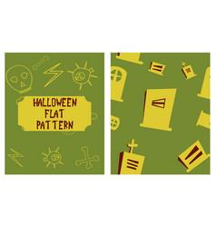 Set of halloween festive pattern endless vector