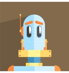 Simpleton Robot Character vector