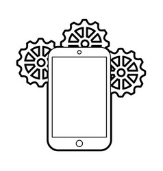 Smartphone device with gear vector