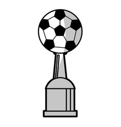 soccer winner cup prize - shadow vector image