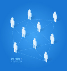 Social people network concept isometric vector