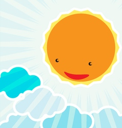 Sunrise in the morningBackground cartoon character vector image