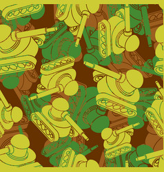 Tank military camouflage pattern seamless war vector