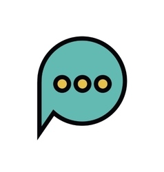 Text balloon isolated icon design vector
