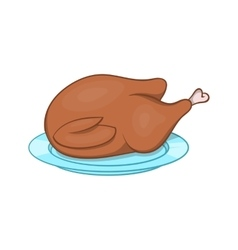 Thanksgiving turkey icon cartoon style vector image