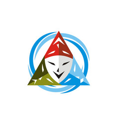 theatrical mask logo design template vector image
