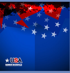 usa color flag design vector image