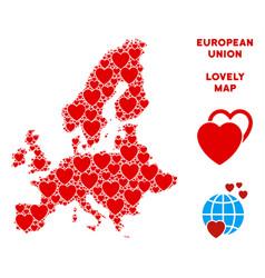 valentine european union map mosaic of vector image