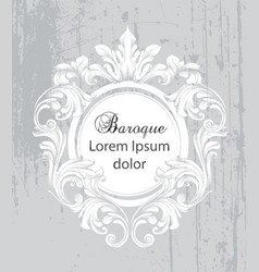 vintage baroque frame card detailed rich vector image