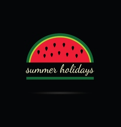 Watermelon with summer holiday vector
