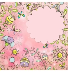 beautiful card with a floral pattern vector image