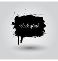Black grunge space element vector image