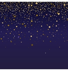 Brilliant golden and sparkling dust particles vector image