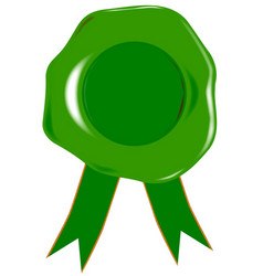 green blank seal vector image vector image