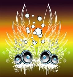 Music fantasy background vector