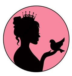 Princess holding a little bird in the palm vector image vector image