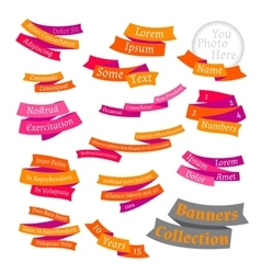 Set of bright labels and ribbons vector image