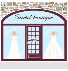 bridal boutique wedding shop vector image vector image
