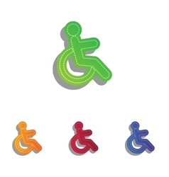 Disabled sign Colorfull applique vector image