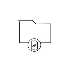 document folder icon vector image