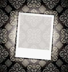floral wallpaper instant photograph vector image vector image
