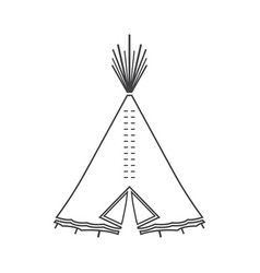 icon or emblem of indian or tipi tent for outdoor vector image vector image