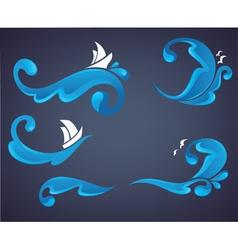 sea and ocean wave vector image vector image