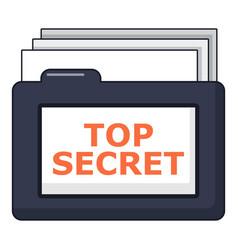 top secret folder icon cartoon style vector image