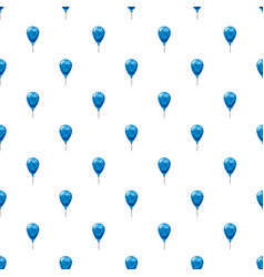blue balloon pattern vector image vector image
