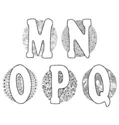 Doodle M Q vector image vector image