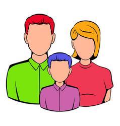 family icon cartoon vector image vector image