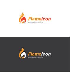 fire flame logo vector image