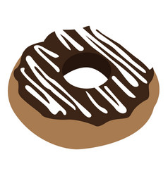 Isolated chocolate donut vector
