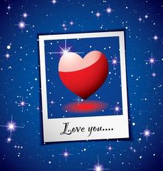 love heart concept vector image vector image