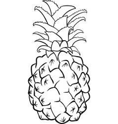 pineapple fruit for coloring book vector image