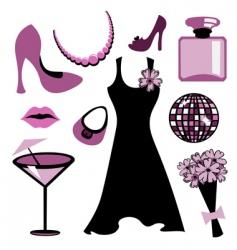 woman accessories set vector image