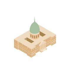 Argentine National Congress Palace icon vector image