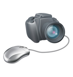 camera computer mouse concept vector image vector image