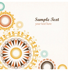 Floral pattern decorative background vector image vector image