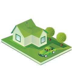 Isometric farmhouse vector image