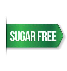 Sugar free sign ribbon vector